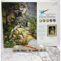 Paket Melukis Paint By Number Dimensions 91416 Wild Free Wolves Wolf