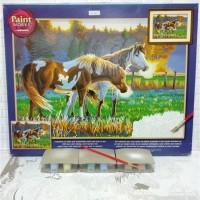 Paket Melukis Paint By Number Dimensions 91417 Pasture Buddies Kuda