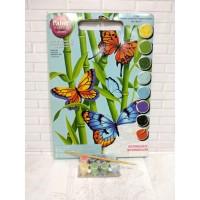 Paket Melukis Paint By Number Dimensions 91258 Butterflies Bamboo Kupu