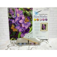 Paket Melukis Paint By Number Dimensions 91403 Clematis Butterflies