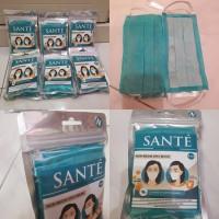 SANTE Masker 2Ply Earloop 1 Pack Isi 5Pcs