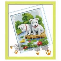 Paket Diamond Painting DOME 170035 Two Dogs Anjing