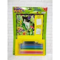 DISKON Paket Mewarnai Paint By Number Dimensions 91318 Kitty In Flower