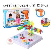 Zoetoys Creative Puzzle Drill 193pcs | mainan edukasi | mainan anak
