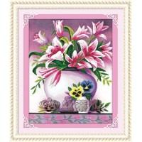 Paket Diamond Painting DOME 170071 Pink Lily Bunga Flower