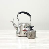 Teko Stainless 1.5 Liter Ceret Anti Karat + Saringan Kopi Teh