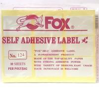 Stiker Label Fox 124