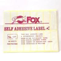 Stiker Label Fox 104