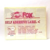 Stiker Label Fox 102