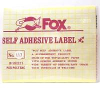 Stiker Label Fox 113