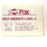 Stiker Label Fox 119