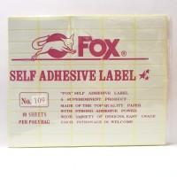 Stiker Label Fox 109
