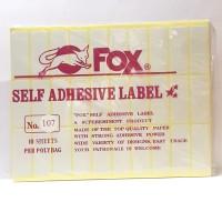 Stiker Label Fox 107