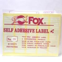 Stiker Label Fox 99