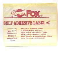Stiker Label Fox 127