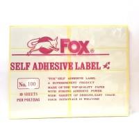 Stiker Label Fox 100