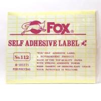 Stiker Label Fox 112