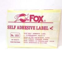Stiker Label Fox 103