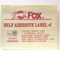 Stiker Label Fox 126