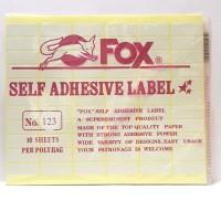 Stiker Label Fox 123