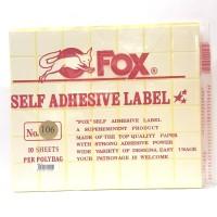 Stiker Label Fox 106