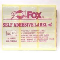 Stiker Label Fox 125