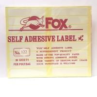 Stiker Label Fox 122