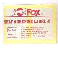 Stiker Label Fox 120