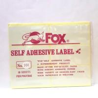 Stiker Label Fox 101