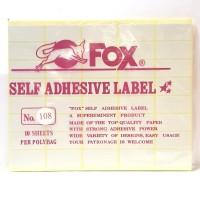 Stiker Label Fox 108