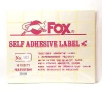 Stiker Label Fox 105