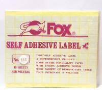 Stiker Label Fox 111