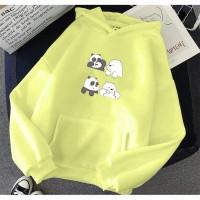 Vallenca Jaket Hoodie We Bare Bears Baby Panda Cute Warna Kuning