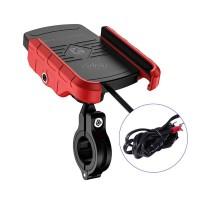 Tebatu Wireless Charger Holder,Motorcycle Phone Qi Fast Charging Bracket Mount Stand Waterproof 12V 11.7x7.5x3cm