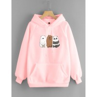 Vallenca Jaket Hoodie We Bare Bears Original Warna Pink