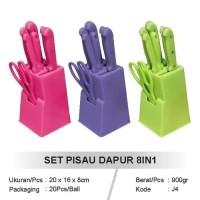 AY Pisau Dapur Set 8 Pcs Stainless Kitchen Knife Set