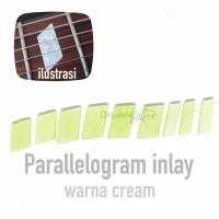 Fingerboard parallelogram inlay gitar 9 pcs
