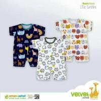 Velvet Junior Baju Kodok Pendek Segi 4 Unisex NewBorn / Baju Kodok