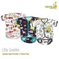 Velvet Junior Setelan Baju Pendek+Celana Pop NewBorn Unisex