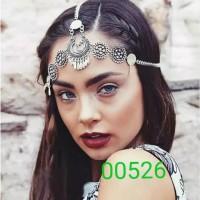 Headchain Headpiece Headband Rantai Gatsby Mahkota Bohemian Gipsy thumbnail