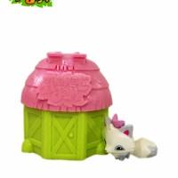 Animal Jam Adopt A Pet Series 4 Spring Cotagge Pink-green