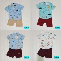 Baju Setelan Kemeja Bayi Laki-Laki Premium Import - Cool Leaf