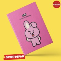 Notebook BT21 Cooky Hardcover A5 Buku Tulis Catatan Agenda Planner