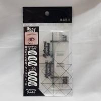 Cetakan alis bingkai alis 6 Eyebrow Guide - Sexy Look masami shouko