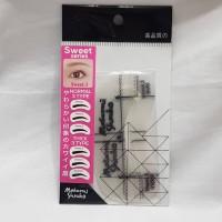 Cetakan alis Berkualitas Masami Shouko 6 Eyebrow Guide - Sweet Look