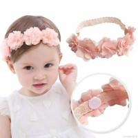 Bandana Bayi 5 Bunga, Hiasan Kepala Bayi, Headband Bayi