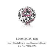 Pandora Fancy Pink In Love
