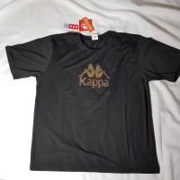 Baju Olah Raga Pria Baju Kappa Kappa Theta Men's T-Shirt Black Gold XL