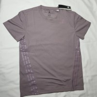 Baju olah raga pria baju running adidas AEROREADY 3-Stripes Tee asli