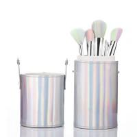 Sonia Miller SBS005-6A silver hologram w matching unicorn brush set thumbnail
